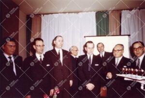 USA:n kouluhallinnon edustajien vierailu helmikuussa 1960.