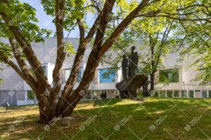 Kolme vekkulia patsas ja päärakennus kesällä 2020.