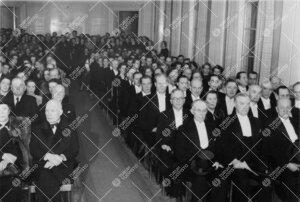 Turun Yliopiston vuosijuhla Phoenixin juhlasalissa 28. helmikuuta  1950.