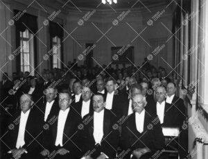 Lukuvuoden avajaiset Phoenixin juhlasalissa 6.9.1937.  (Todennäköisesti.)