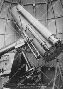 Turun Yliopiston Tähtitornin anastigmaattinen teleskooppi, joka  1930-luvulla rakennettiin prof. Yr