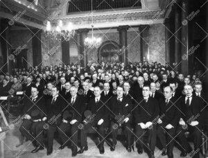 Turun Yliopiston vuosijuhla Vanhan Akatemiatalon juhlasalissa  28. helmikuuta 1935.