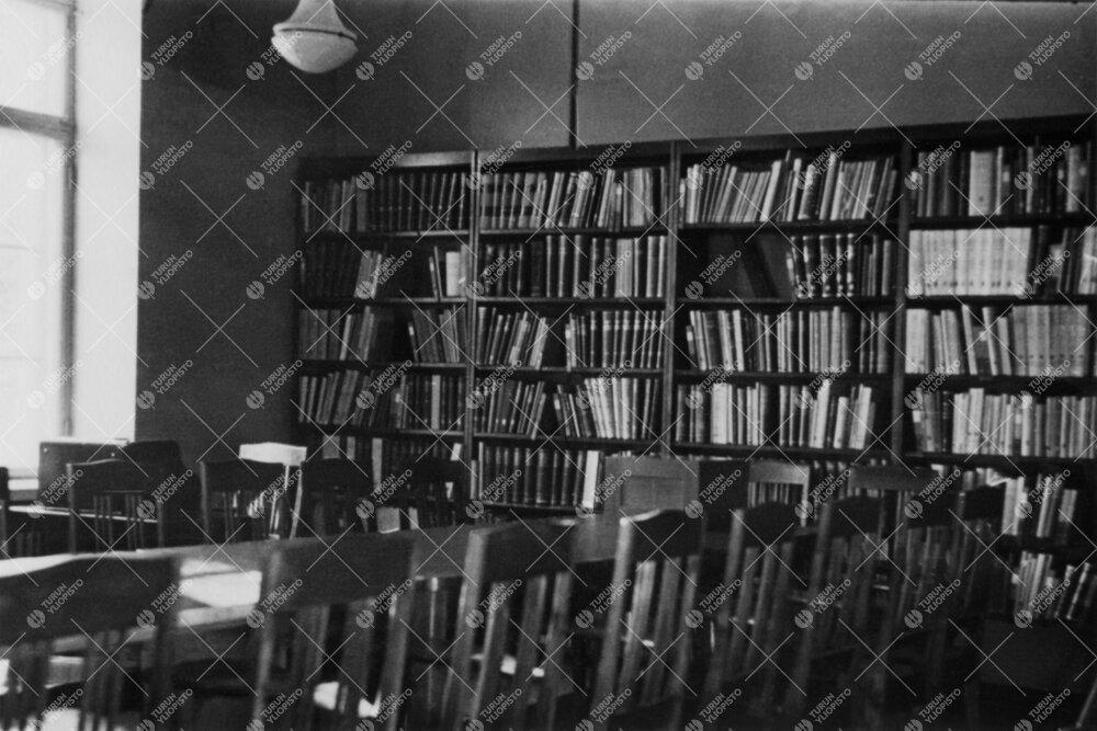Seminaarihuone Phoenixin kirjastossa vuonna 1946.
