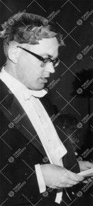Promootio 1960. Fil. maist. Jukka Helani puhuu isänmaalle  promootiopäivällisillä.