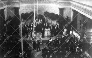 Turun Yliopiston vihkiäisjuhla ja ensimmäinen promootio 12.  toukokuuta 1927. Promootiotilaisuus e