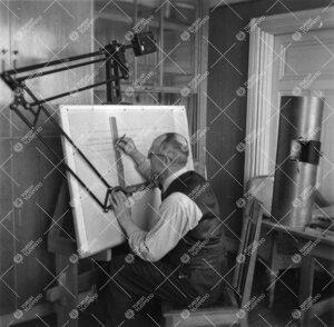 Ilmeisesti teleskoopin suunnittelutyö meneillään Phoenixissa  1940-luvulla.