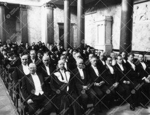 Turun Yliopiston vuosijuhla Vanhassa Akatemiatalossa 27.2.1937.
