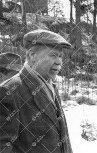 Yrjö Väisälä Tuorlassa huhtikuussa 1957.