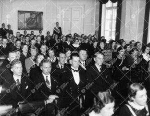 Ylioppilaskunnan vuosijuhlakokous Phoenixin juhlasalissa  9. marraskuuta 1938.