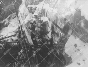 Tuorlan tunnelia porataan talvella 1952.