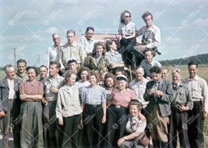 Eläin- ja kasvitieteen opiskelijoita Enontekiöllä kesällä 1946.