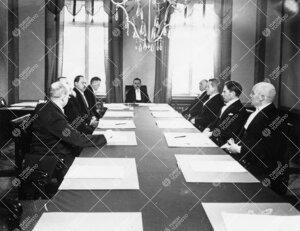 Turun Yliopiston hallituksen juhlaistunto 28. helmikuuta 1930.