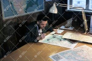 Työskentelyä maantieteen laitoksella Phoenixissa 1950-luvun  puolivälissä.