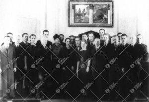 Helsingin yliopiston kemistit Turun Yliopiston kemistien vieraana  vuonna 1938.