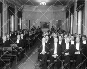 Turun Yliopiston vuosijuhla Phoenixin juhlasalissa 28. helmikuuta  1936.