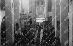 Turun Yliopiston vihkiäisjuhla tuomiokirkossa 12. toukokuuta  1927.