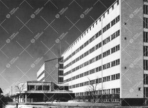 Turun yliopiston lääketieteellisen tiedekunnan  laitosrakennus  1954.