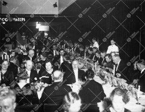 Turun Yliopiston vuosijuhla 28. helmikuuta 1935. Juhlaillallinen  ravintola Itämeressä.