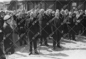 4. suomal.-ugrilainen kulttuurikongressi 16.-18.6.1931, Helsinki.  Unkarin ministeri, Suomen edustus