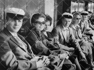 Promootio 1960. Promootiopurjehdus Naantaliin saaristolaiva  Wellamolla.