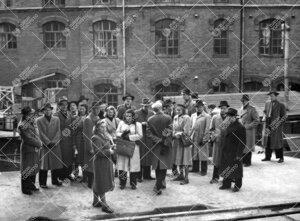 Ekskursio Tampereelle vuonna 1948.