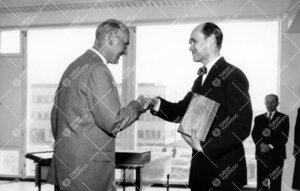 Onnittelut uudelle kirjastotalolle 3. kesäkuuta 1955.  Kööpenhaminan yliopiston ylikirjastonhoita