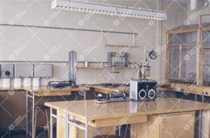 Fysiikan laitoksen tiloja 1950-luvun jälkipuolella.