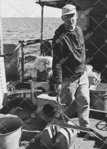 Pauli Bagge M/S Arandalla kesällä 1965.