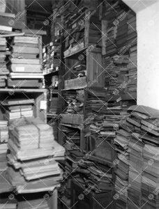 Kirjaston varastoa Phoenixissa vuonna 1938.