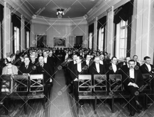 Yliopiston vuosijuhla. Päiväjuhla Phoenixin juhlasalissa  28.2.1930.