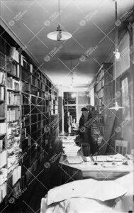 Kirjaston varastokäytävä/työtila Phoenixissa vuonna 1940.