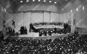 Turun Yliopiston juhla ja promootio 3. kesäkuuta 1955. Päiväjuhla  konserttitalossa. Kantaatin es
