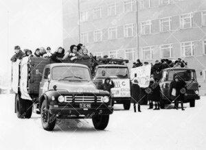 Penkinpainajaispäivä 1965. Lähtö Norssin pihalta.