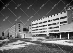 Lääketieteen laitosrakennukset vuosilta 1948 ja 1952(-54).  Taustalla vuonna 1937 valmistunut Turu