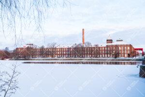 Porin yliopistokeskus talvella