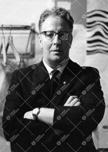 Turun normaalilyseon vahtimestari Jouko Rautala talvella 1966.